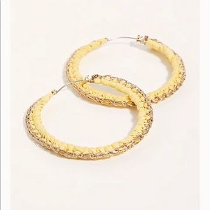 Free people Lurex Macrame hoop earring